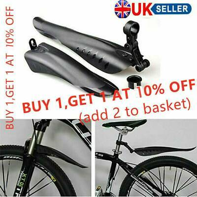 2pcs Mountain Bike Mudguards MTB Front Rear Wings Bicycle Fenders Mud Guards Set • 8.19£