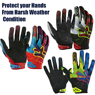 Windproof Cycling Gloves Sport Motorbike Winter Full Finger Glove Bike Riding UK • 12.99£