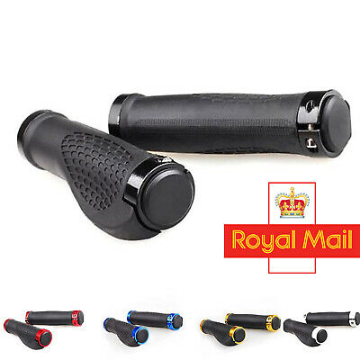 Cycling Handlebar Grips Mountain Bike Double Lock On Locking BMX MTB Cycle Grip • 9.99£