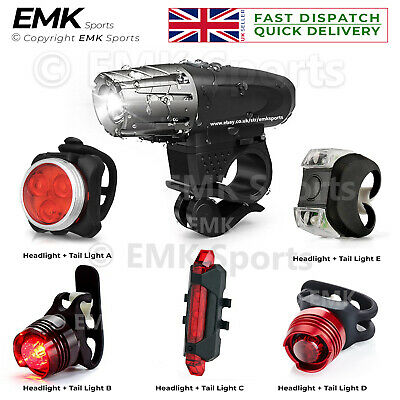 Headlight & Taillight Set Water Resistant Super Bright Front And Back Bike Light • 7.99£