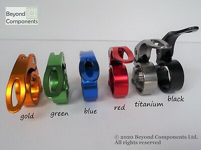 Anodized Bike Seat Clamp Bicycle MTB BMX Road Quick Release 28.6 31.8 34.9 • 3.99£