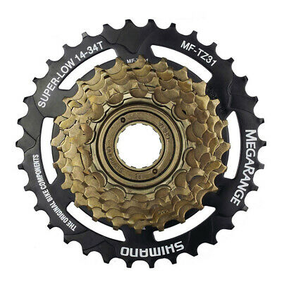 Shimano MF-TZ31 7 Speed MegaRange Cassette / Screw On Freewheel - 14 - 34T • 17.99£