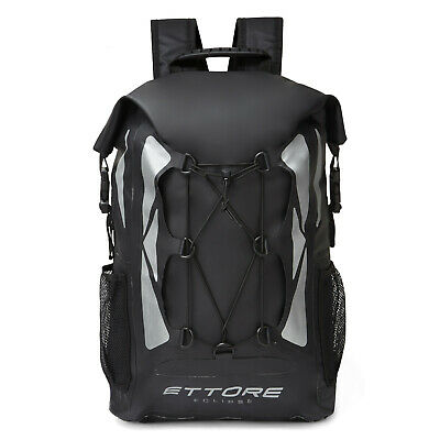 Ettore Cycling Rucksack Backpack 100% Waterproof Dry Bag 30L - Black - Eclipse • 39.99£
