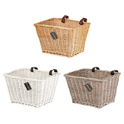 PedalPro Vintage Hand Woven Rectangle Front Wicker Bike Basket Bicycle/Cycle • 6.99£