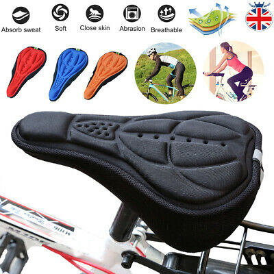 3D Silicone Gel Bike Bicycle Cycling Saddle Seat Cover Comfort Soft Cushion Pad • 6.59£