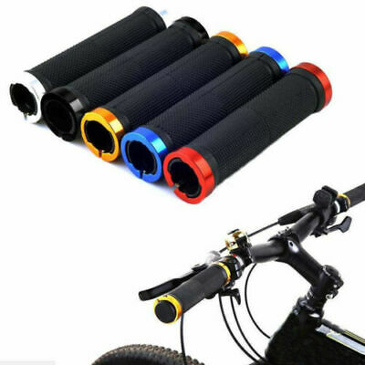 Bmx Mtb Cycle Bicycle Mountain Bike Handle Bar Grips 2pcs Double Lock On Locking • 5.78£