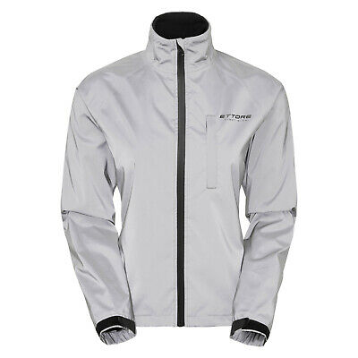 Ettore Ladies Cycling Jacket Waterproof Breathable Reflective Silver Night Glow • 44.99£