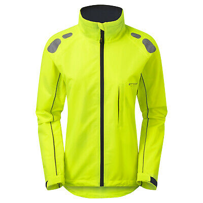 Ettore Ladies Cycling Jacket Waterproof Breathable High Vis Yellow - Night Eagle • 42.99£