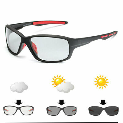 Color-changing Lenses Polarized Cycling Glasses Sport Fishing Sunglasses Goggles • 4.53£
