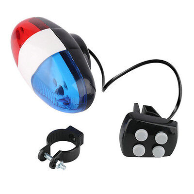 Electric Bike For Safety Cycling 4 Sounds 6LED Police Car Siren Light Horn Bell. • 3.49£