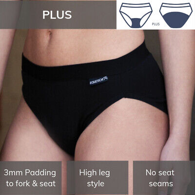 Equetech Bikini Brief - Plus Padded Riding/ Cycling Underwear XS-XL MADE IN UK • 18.95£
