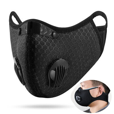 Air Purifying Cycling Protective Mask Face Mask Face Cover Haze Fog Mouth Mask • 5.99£