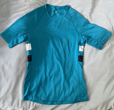 Rapha Brevet Base Layer, Size Small, Teal Blue, Good Condition, Cycling Top • 32£