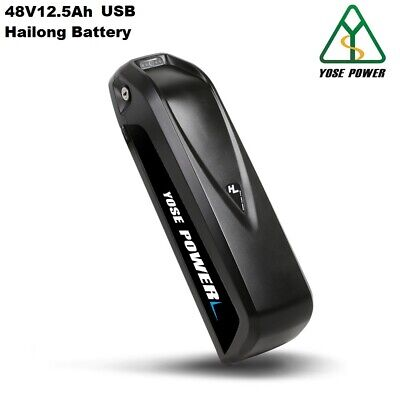 Down Tube Battery 48V12.5Ah Lithium-ion Battery Electric Bicycle Bottle Black • 229£