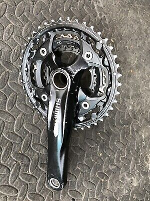 SHIMANO FC-M552/M551 HOLLOWTECH CRANKS 175mm TRIPPLE RING 24,32,42 • 13.99£