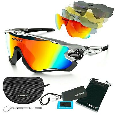 Essence' Sports Sunglasses For Cycling Ski & Outdoor Sports - 5 Lenses Included • 13.95£
