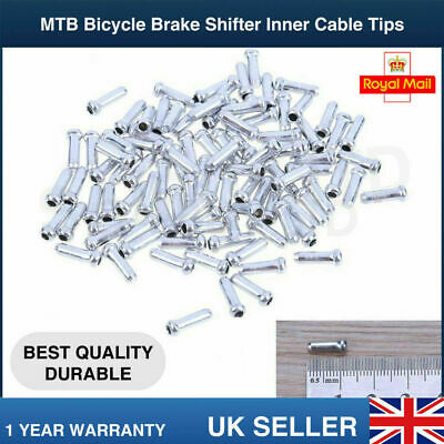 Mtb Bike Bicycle Brake Shifter Inner Cable Tips Wire End Cap Crimps Uk • 3.79£