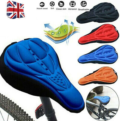 Bike Bicycle Silicone 3D Gel Saddle Seat Cover Pad Padded Soft Comfort Cushion • 3.99£