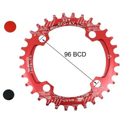 96mm BCD 32 - 36T Tooth Chain SNAIL Bike  Narrow Wide Round Oval Chainring Ring • 8.99£