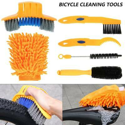 6Pcs Bicycle Cleaning Brush Gloves Tool Kit Set Bike Chain Cleaner Glove Outdoor • 7.99£
