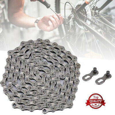 Durable 9 Speed MTB Bicycle Bike Chain For Shimano SRAM Campagnolo 116 Links UK • 8.59£