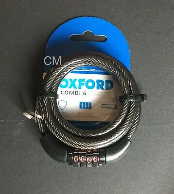 Oxford Combi 6 Combination Bike Bicycle MTB Cycle Lock 6mm X 1500mm Steel Cable  • 7.25£