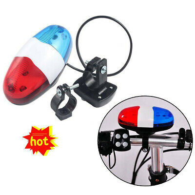 Kids Cycling Bike Accessories Electric Horn 4 Sounds Bicycle Police Siren Lights • 5.25£