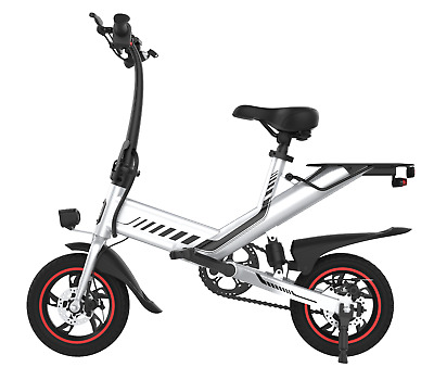 Electric Folding Bicycle 36V 7.5Ah 350W Dual Power Mode C3 City EBike White   • 599.97£