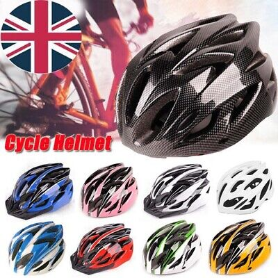 Mountain Bike Road Helmet Adjustable Mens Womens Adult Sport Cycling Bicycle UK • 10.85£