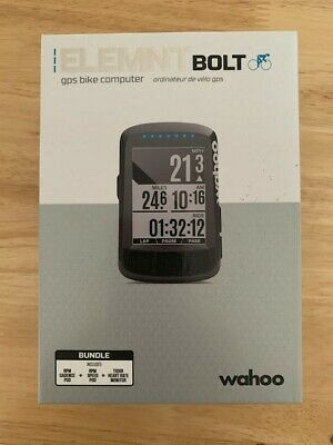 Wahoo Elemnt Bolt Bundle (with Heart Rate Monitor, Speed & Cadence Sensors) • 155£
