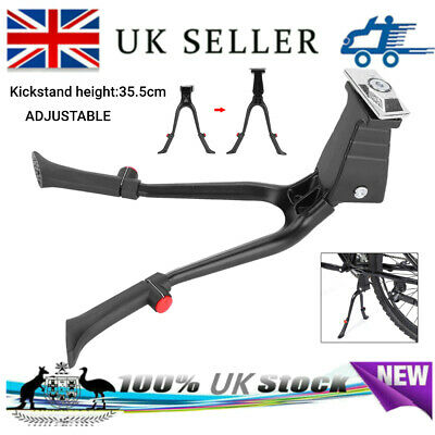 Double Leg Bicycle Kick Stand Kickstand Parking Rack Mountain Bike Side Support • 14.99£