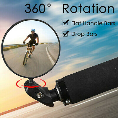 Mountain Bike Rearview Mirror Bicycle Handlebar Convex Rear View Mirror Bar End • 6.89£