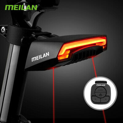 CYCLE BIKE INDICATOR Rear LASER Light WIRELESS REMOTE Turn Signals MEILAN X5 • 29.60£