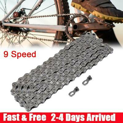 9 Speed Bike Chain MTB Bicycle Mountain For Shimano SRAM Campagnolo 116 Link MTB • 7.49£