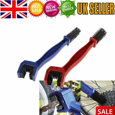 Motorcycle Bike Bicycle Motocross Chain Wheel Cleaning Brush Motorbike Cleaner • 2.99£