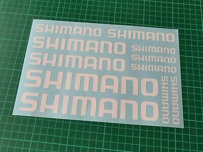 Shimano Bike Stickers Vinyl Decal Frame Cycle Bicycle - Set Of 11 Logos • 1.99£
