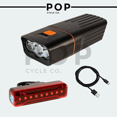 Premium Fully Rechargeable Bicycle Super Bright Bike Lights Set Light Waterproof • 19.99£