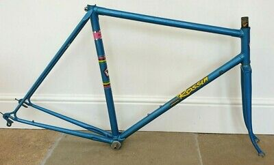 ROSSIN 56cm COLUMBUS FRAMESET WITH ORIGINAL PAINTWORK VERY GOOD CONDITION 1970s • 49£