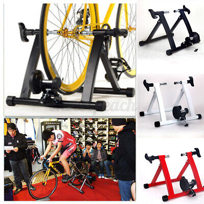 UK Exercise Bike Trainer Stand Portable Magnetic Resistance Training Gym Home  • 49.99£