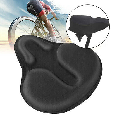 Extra Wide Comfy Cushioned Bike Seat Soft Padded Bicycle Gel Universal Saddle • 14.98£