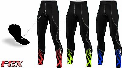 FCX Mens Cycling Trouser Thermal Padded Bicycle Winter Long Tight Biking Pants • 17.99£