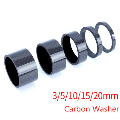 5pcs Full Set 1-1/8  3/5/10/15/20mm Front Fork Bike Fiber Spacers Stem Carbon  • 4.09£