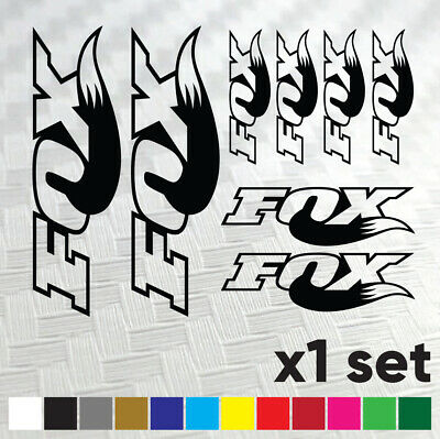 FOX Racing Shox Bike Stickers Vinyl Decal Frame Cycle Bicycle - Set Of 8Logos • 2.72£