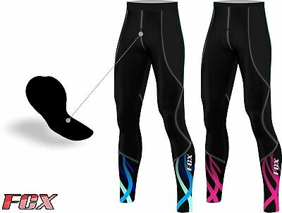 FCX Womens Cycling Tight Pants Padded Winter Bicycle Biking Thermal Trouser Long • 17.99£