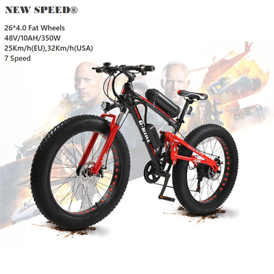 Electric Mountain Hybrid Bike/Bicycle NEW SPEED®  Fat Tire 26  MTB/7 Speed  • 899.99£
