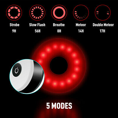 Waterproof Bike Rear Tail Light LED USB Rechargeable Bicycle Cycling Sports Lamp • 8.75£
