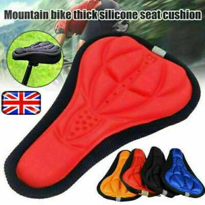 Bike Seat Cover Cushion, Comfortable Silica Bike Bicycle Saddle Cushion For Moun • 2.29£