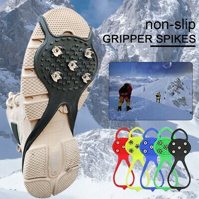Universal Non-Slip Gripper Spikes Over Shoe Durable Cleats Good Elasticity UK • 6.59£