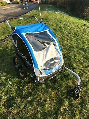 Burley D'Lite Double Bike Bicycle Child Trailer Stroller • 51£