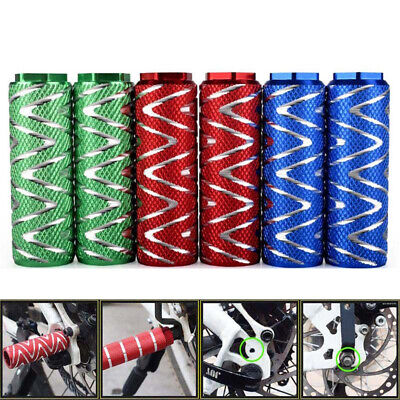 1 Pair MTB BMX Bike Alloy Foot Stunt Pegs Footrest Lever Cylinder Grip Axle New • 9.18£